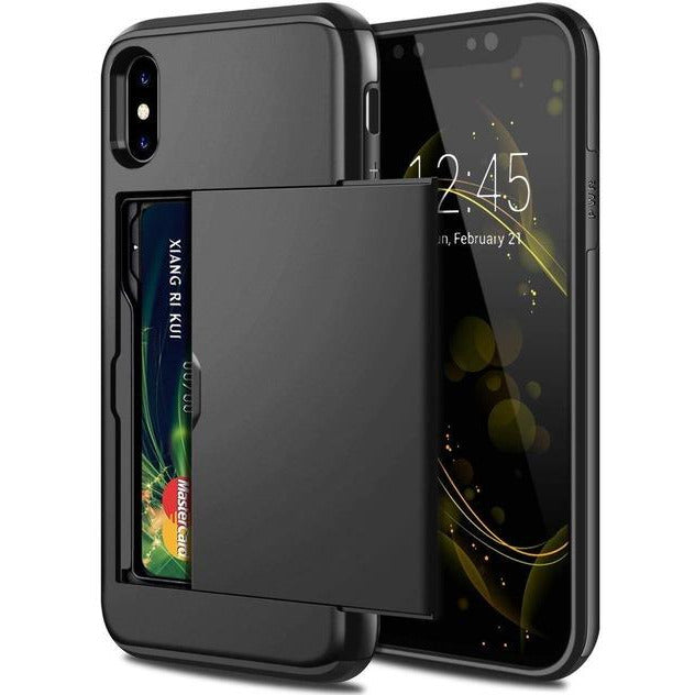 Protective case with Sliding Card Slot