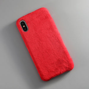 iPhone Fur Plush Case