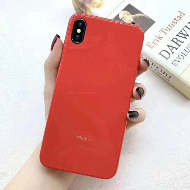Candy Color Tempered Glass Case
