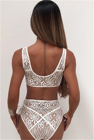 Wear Lace High Waist Swimsuit