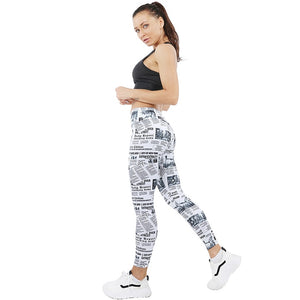 Newspaper printing leggings