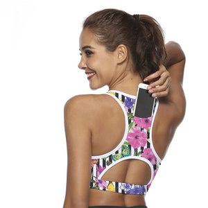 Rear Phone Pocket Sports Bra
