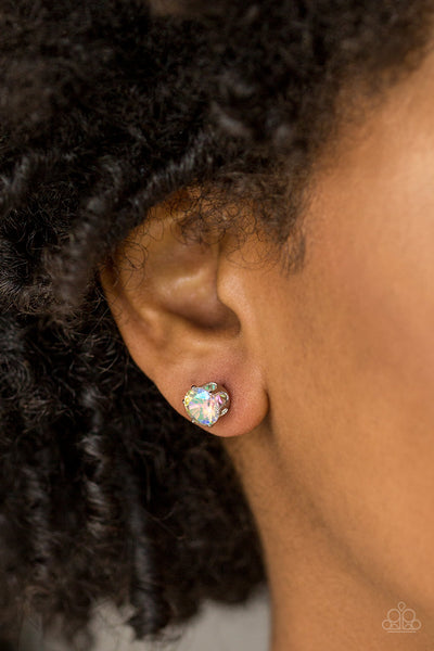 Paparazzi Come Out On Top Multi Post Earrings - Life of the Party Exclusive
