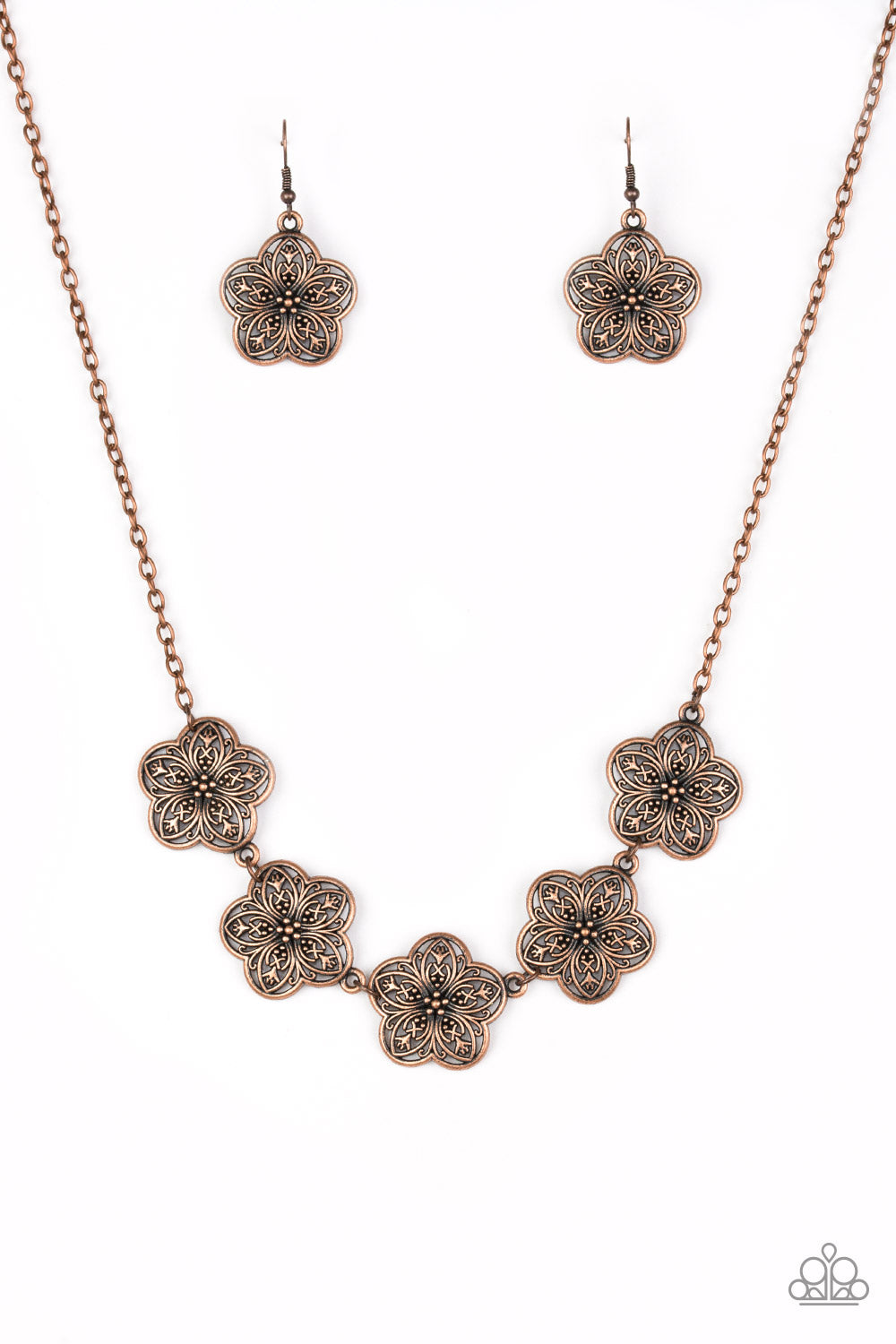 Paparazzi Garden Groove Copper Short Necklace