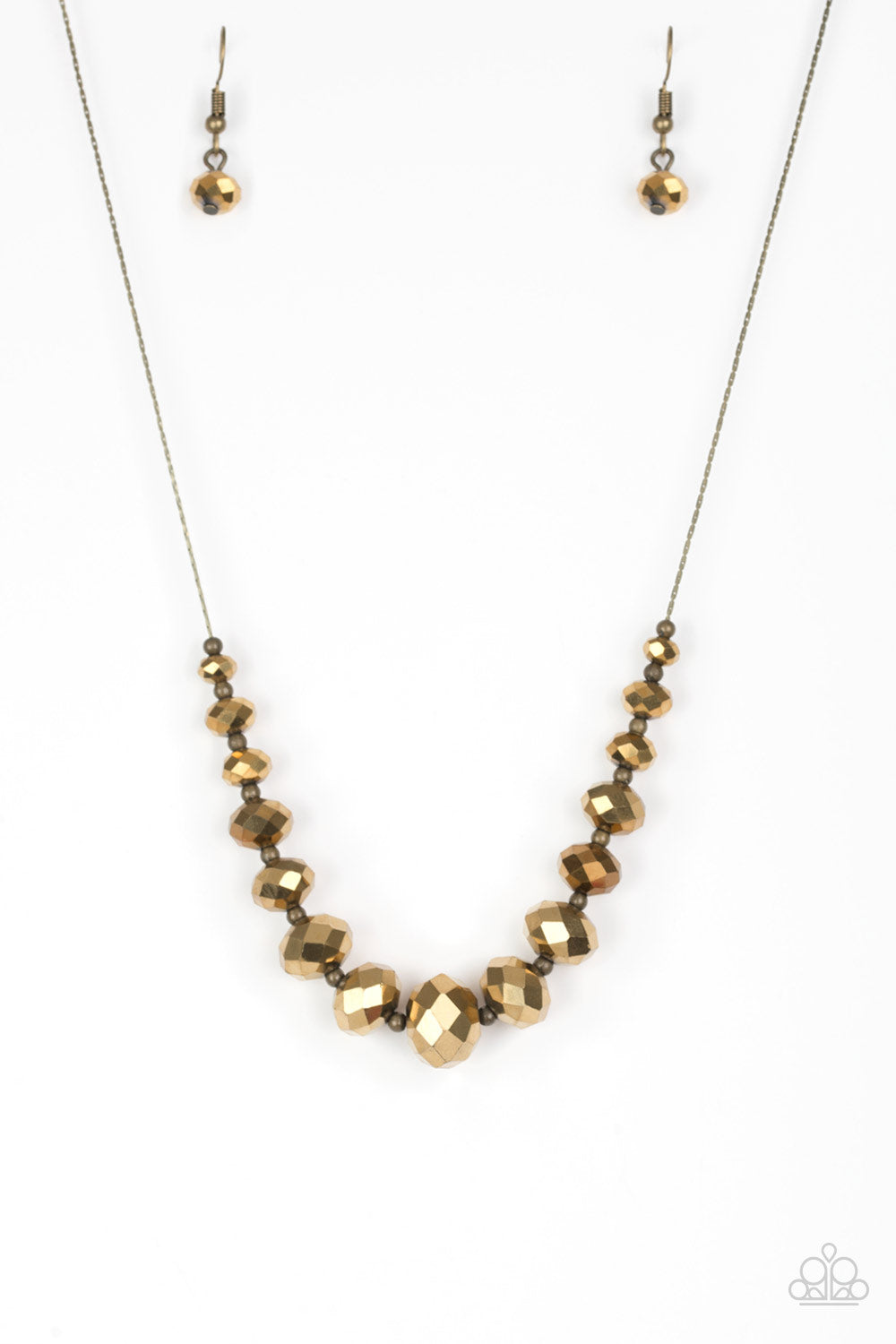 Paparazzi Crystal Carriages Brass Short Necklace