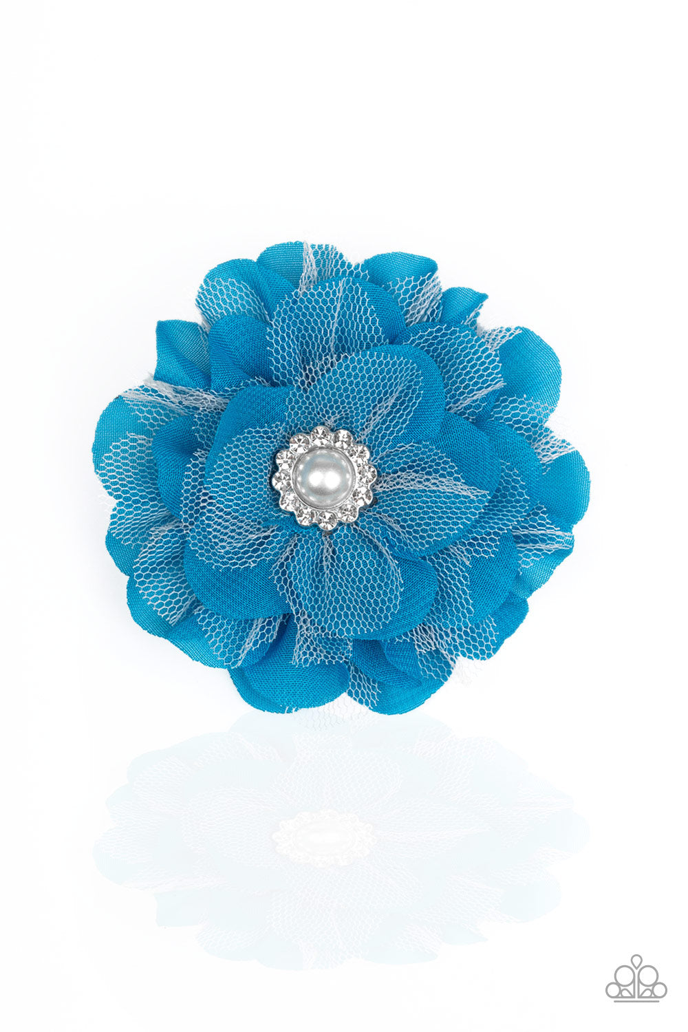 Paparazzi Bayou Blooms Blue Hairbow