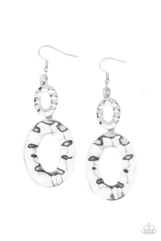 Paparazzi Bring On The Basics Silver Fishhook Earrings