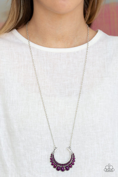 Paparazzi Count To Zen Purple Long Necklace