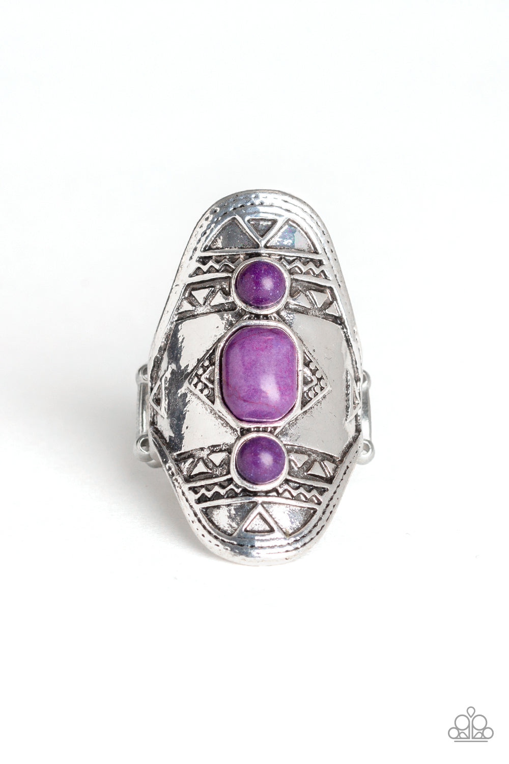 Paparazzi Desert Paint Purple Stone Ring