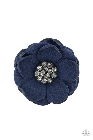 Paparazzi Dewdrop Dazzle Blue Hairbow