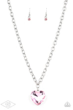 Load image into Gallery viewer, Paparazzi Flirtatiously Flashy Pink Heart Short Necklace - Life Of The Party Exclusive January 2020
