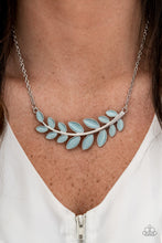 Load image into Gallery viewer, Paparazzi Frosted Foliage Blue Short Necklace
