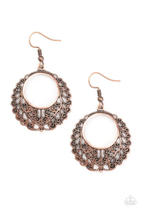 Paparazzi Grapevine Glamorous Copper Fishhook Earrings