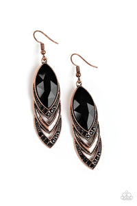 Paparazzi High-End Highness Copper Fishhook Earrings