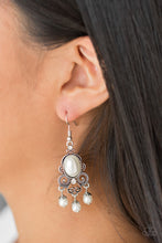 Load image into Gallery viewer, Paparazzi I Better Get GLOWing White Fishhook Earrings