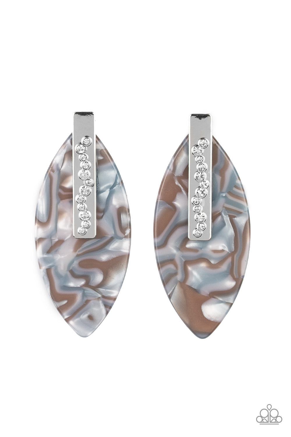 Paparazzi Maven Mantra Acrylic Post Earrings - Life of the Party Exclusive August 2020