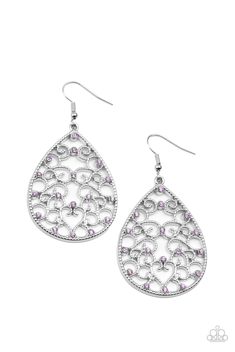 Paparazzi Midnight Carriage Purple Fishhook Earrings