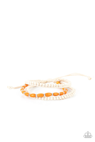 Paparazzi Refreshingly Rural Orange Sliding Knot Bracelet