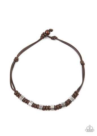 Paparazzi Rural Rumble Brown Men's Short Necklace
