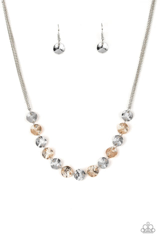 Paparazzi Simple Sheen Silver Short Necklace