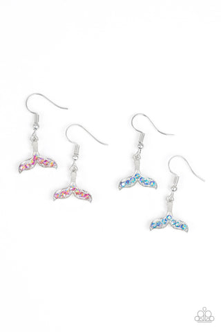Paparazzi Starlet Shimmer Whale / Mermaid Tail Fishhook Earrings - P5SS-MTXX-179XX