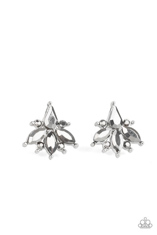 Paparazzi Stellar Sheen Silver Post Earrings