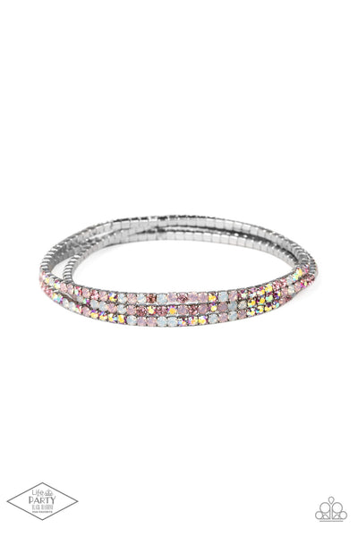 Paparazzi Sugar and ICE Pink Stretch Bracelet - Life Of The Party Exclusive