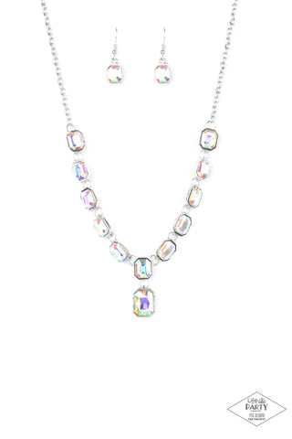 Paparazzi The Right To Remain Sparkly Multi Short Necklace