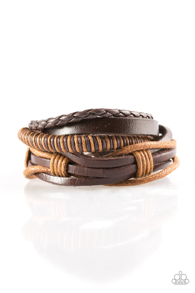 Paparazzi Trailbreaker Brown Sliding Knot Bracelet
