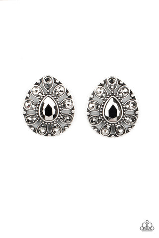 Paparazzi Treasure Retreat Silver Post Earrings