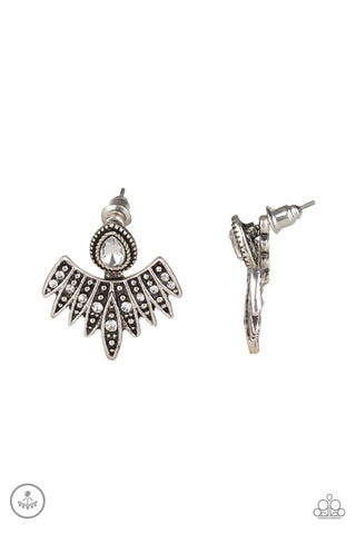 Paparazzi Wing Fling White Jacket Post Earrings