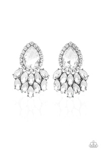 Paparazzi A Breath of Fresh HEIR White Post Earrings