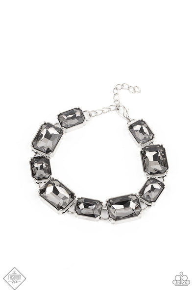 Paparazzi After Hours Silver Clasp Braclet - Fashion Fix Magnificent Musings January 2021
