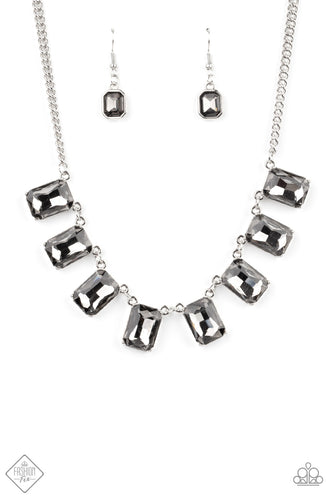 Paparazzi After Party Access Silver Short Necklace - Fashion Fix Magnificent Musings February 2021