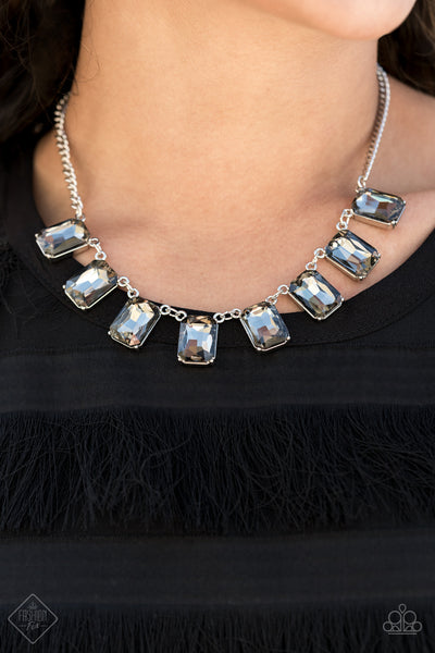 Paparazzi After Party Access Silver Short Necklace - Fashion Fix Magnificent Musings January 2021