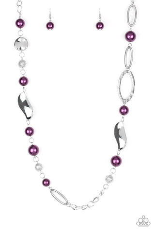 Paparazzi All About Me Purple Long Necklace
