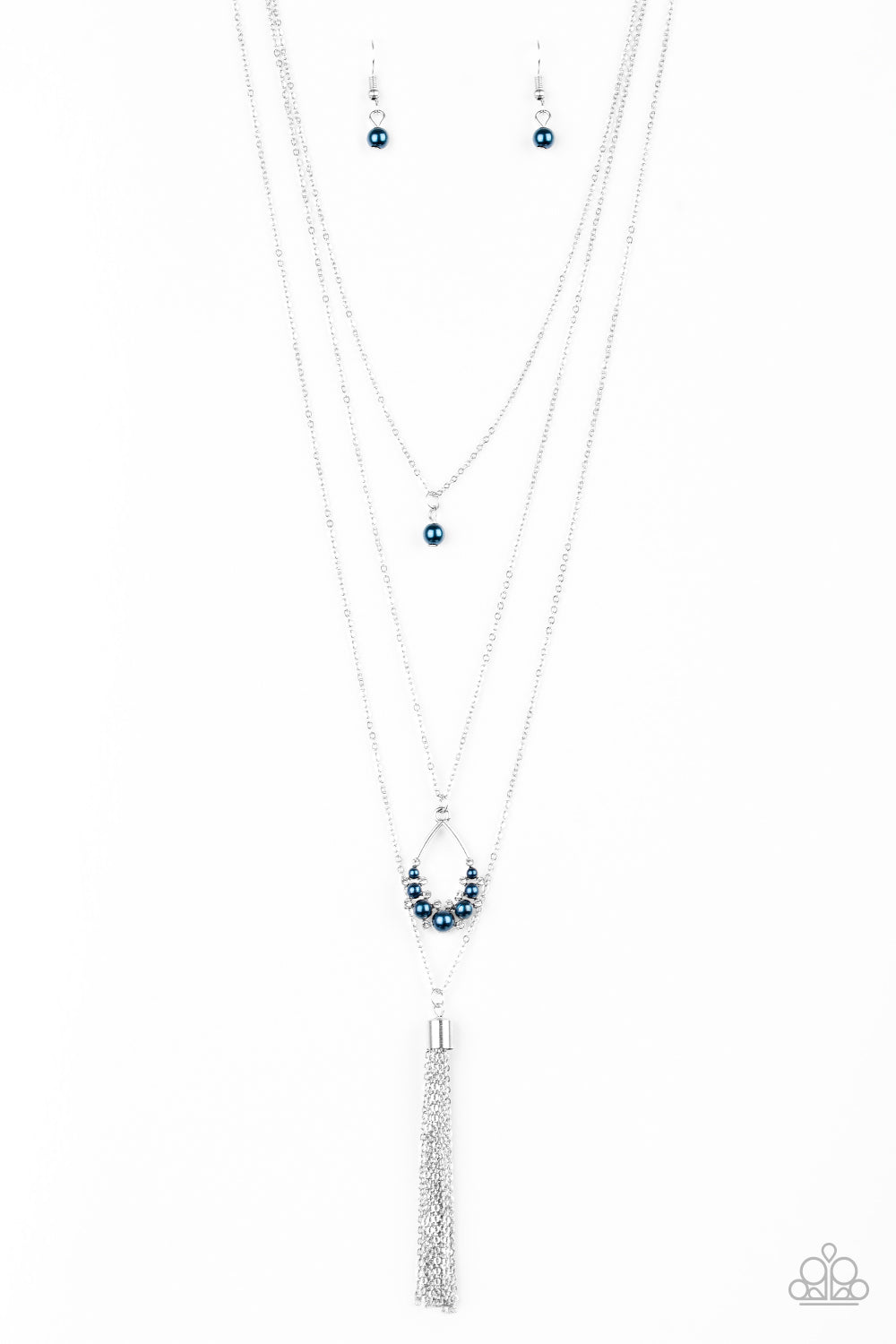 Paparazzi Be Fancy Blue Long Necklace
