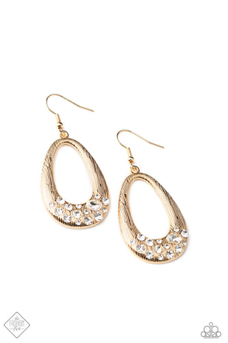 Paparazzi Better LUXE Next Time Gold Fishhook Earrings - Fashion Fix Fiercely 5th Avenue December 2020