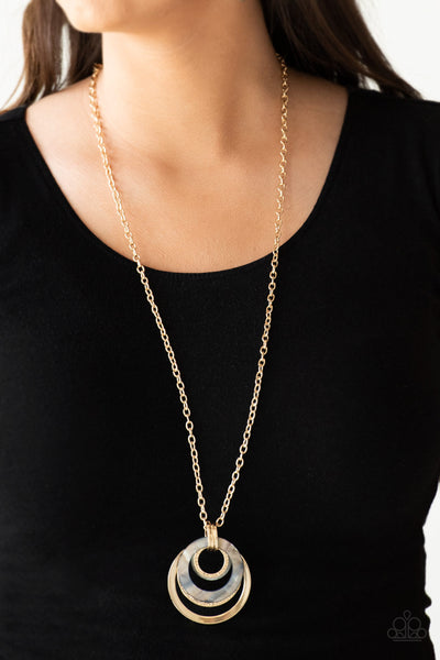 Paparazzi Coast Coasting Gold Long Necklace