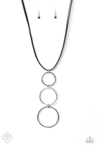 Paparazzi Curvy Couture Silver Long Necklace - Fashion Fix Magnificent Musings December 2020