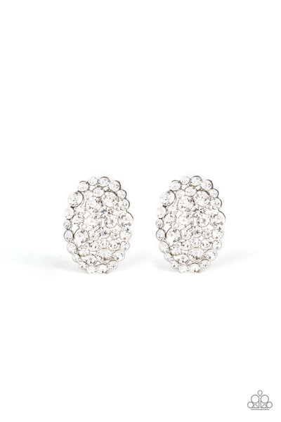 Paparazzi Daring Dazzle White Post Earrings
