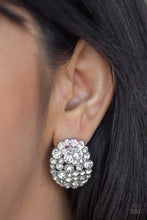 Load image into Gallery viewer, Paparazzi Daring Dazzle White Post Earrings