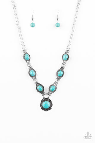 Paparazzi Desert Dreamin' Blue Stone Short Necklace