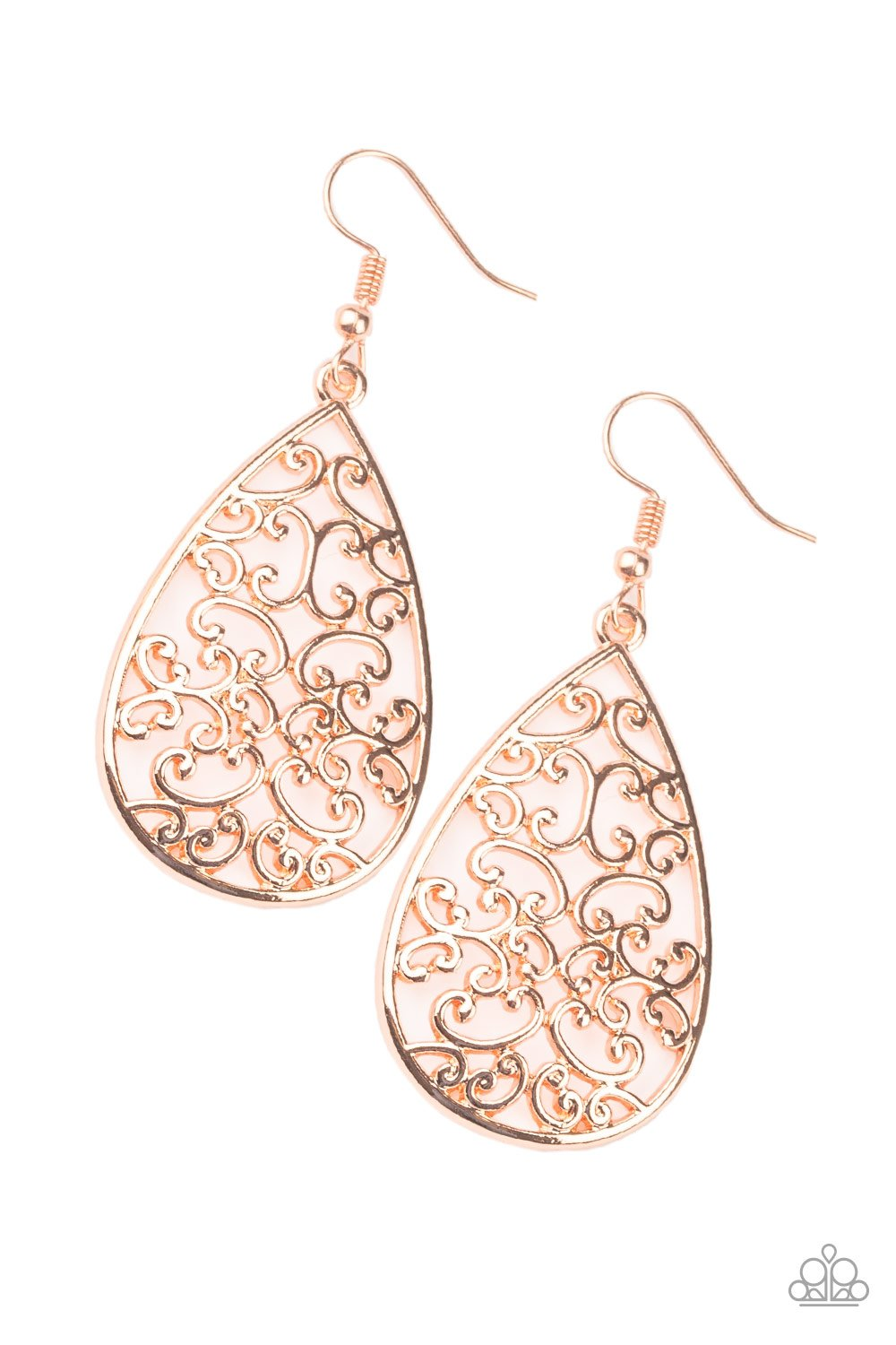 Paparazzi Divine Vine Copper Fishhook Earrings