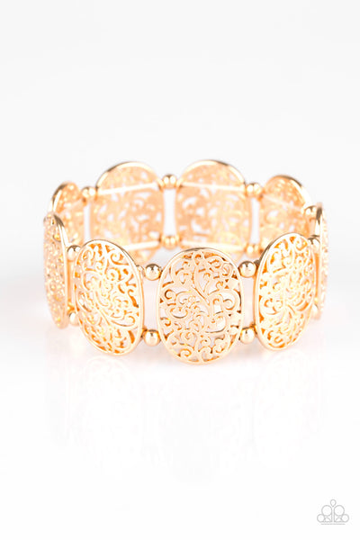 Paparazzi Everyday Elegance Gold Stretch Bracelet