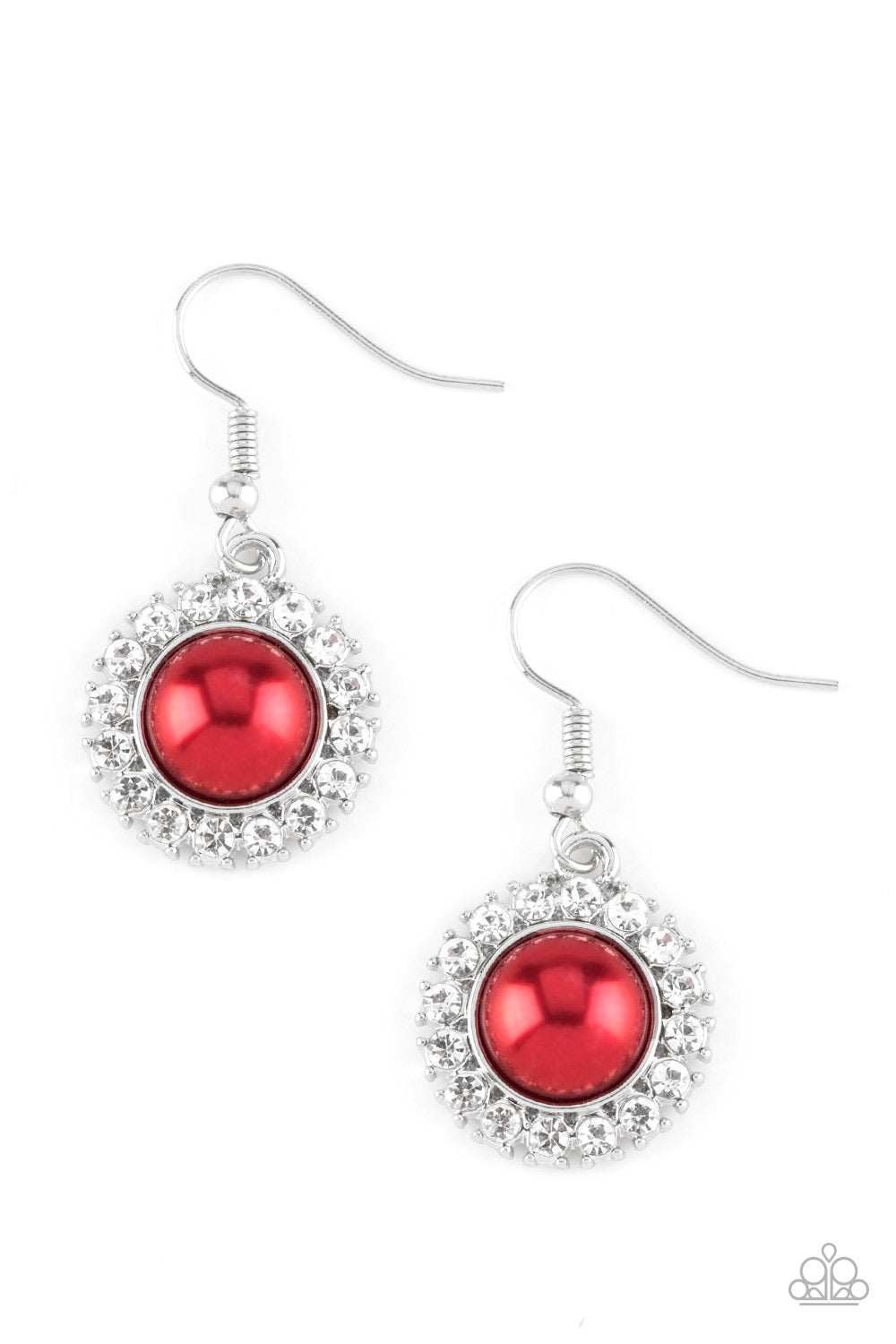 Paparazzi Fashion Show Celebrity Red Fishhook Earrings