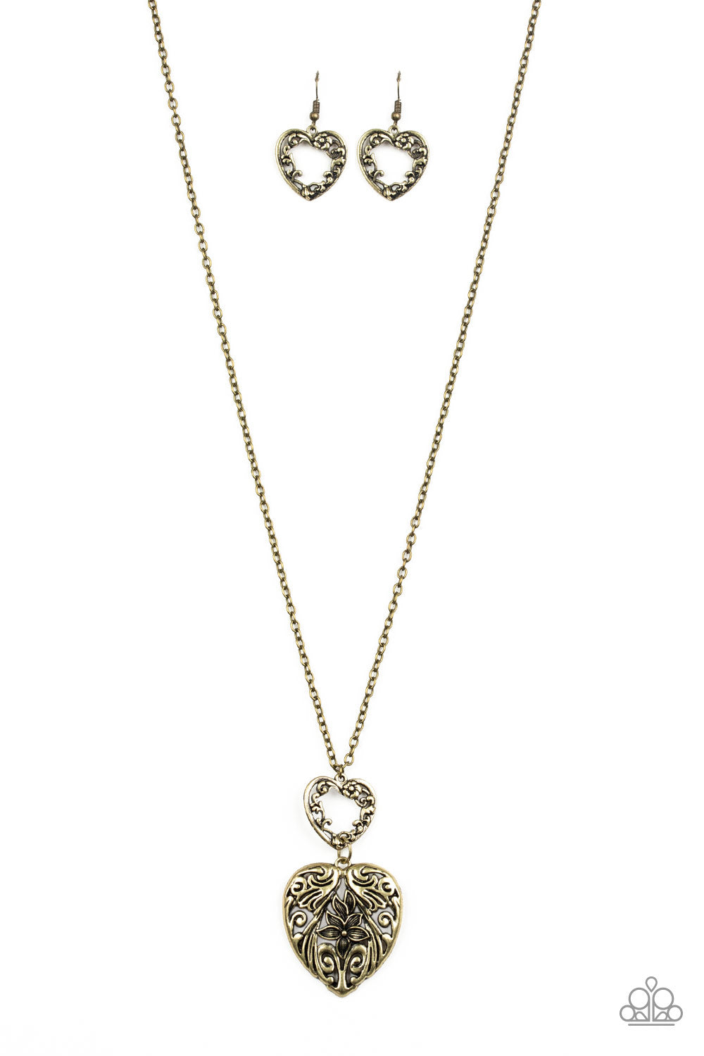 Paparazzi Garden Lovers Brass Long Necklace