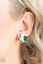 Load image into Gallery viewer, Paparazzi Highly High-Class Green Clip-On Earrings