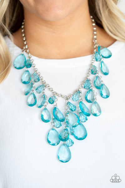 Paparazzi Irresistible Iridescence Blue Short Necklace