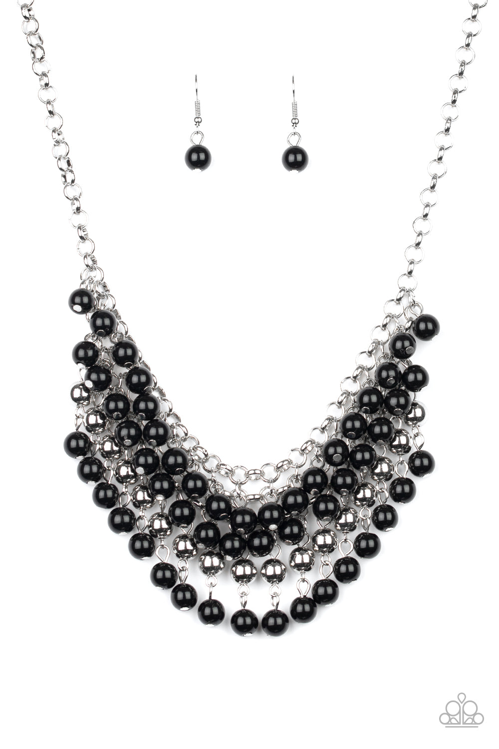 Paparazzi Jubilant Jingle Black Short Necklace
